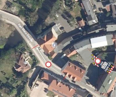 Foto zur Meldung: Verkehrsinformation: Vollsperrung der Karl-Marx-Straße 6 - 9