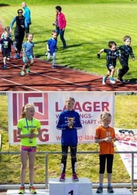 Foto zur Meldung: Trainings-Kinderlauf lockte ins Stadion