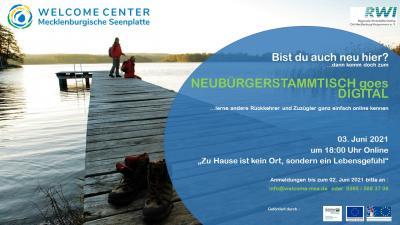 Online-Stammtisch für Zuzügler in der Seenplatte – Viel Wasser. Viel Grün. Viel Ruhe. Das ist Heimat. Das ist Waren.
