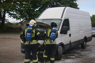 Foto zu Meldung: Brand an Lehniner Tankstelle