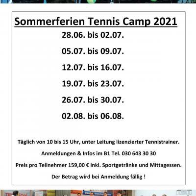 Sommerferien Tennis Camp 2021