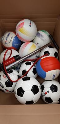 Schulförderverein sponsert 18 Bälle
