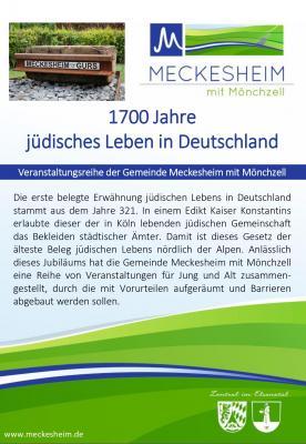 Veranstaltungsreihe: jüdisches Leben in Deutschland