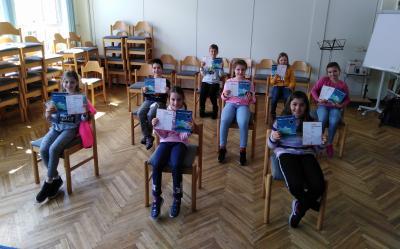 Stolze Teilnehmer am Mathe-Känguru Wettbewerb