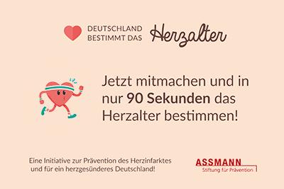 """Bild der Meldung: DGSP unterstützt Kampagne der Assmann-Stiftung: """"Deutschland bestimmt das Herzalter!"""""""