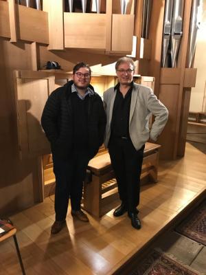 Marcel Eliasch (links) und Thierry Escaich
