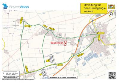 Foto zur Meldung: Vollsperrung der Tafernstraße ab 31.05.2021 bis voraussichtlich 30.11.2021