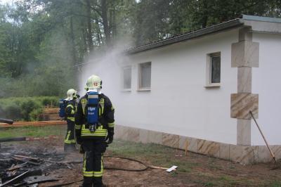 Foto zu Meldung: Brand am Klostersee