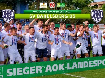 Der SV Babelsberg 03 gewinnt den AOK-Landespokal 2020/21