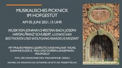 Musikalisches Picknick am 5. Juni 2021