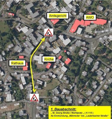 Foto zu Meldung: Vorankündigung!  Umfangreiche Baumaßnahmen an der K 115 im Ortsteil Großenlüder