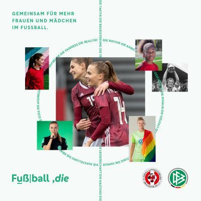 Vorschaubild der Meldung: DFB startet Kampagne für den Frauenfußball
