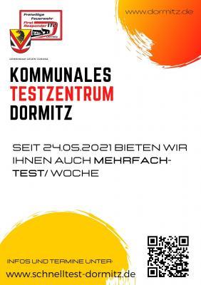 Mehrfachtestungen im kommunalen Testzentrum Dormitz
