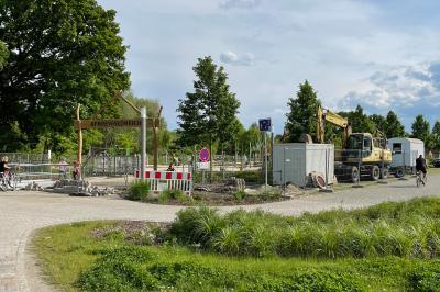 """Foto zur Meldung: Baustart für ein öffentliches WC am Spielplatz """"Spreewaldreich"""""""