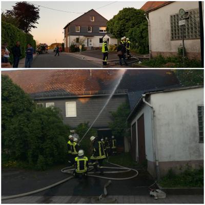 Feuerwehr Hollnich rettet Bauernhaus