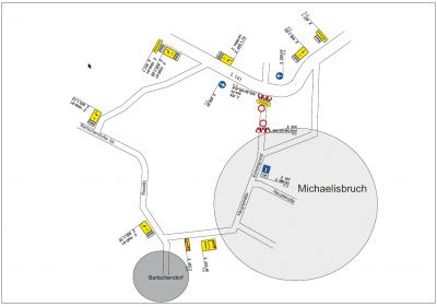 Umleitung Straßenbau Michaelisbruch