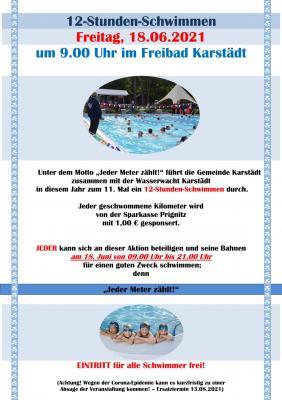 12-Stunden-Schwimmen im Freibad Karstädt