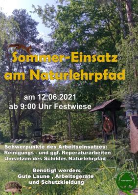 Foto zur Meldung: Sommereinsatz am Naturlehrpfad