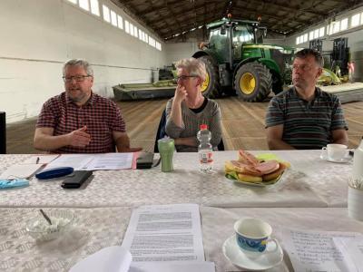 Beratung zum agrarstrukturellen Leitbild in der AgrargenossenschaftSonnewalde