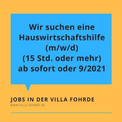 Job! Hauswirtschaftshilfe gesucht