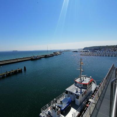 Blick aus dem Hafenamt unserer Stadt