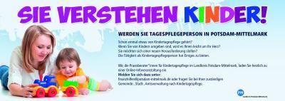 Plakat: Sie verstehen Kinder - Frau mit Kleinkind Quelle: LK PM