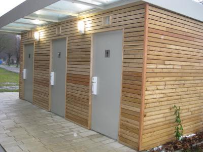 Die neuen Toiletten am Kurplatz.
