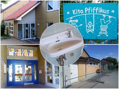 Destedt: Sanierung der Trinkwasserinstallation in Schule, Turnhalle und Kita hat begonnen