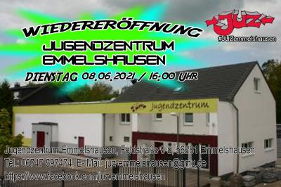 Wiedereröffnung des Jugendzentrum Emmelshausen Di. 08.06.2021