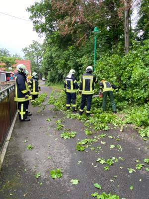 Einsatz der Freiwilligen Feuerwehr Krauthausen