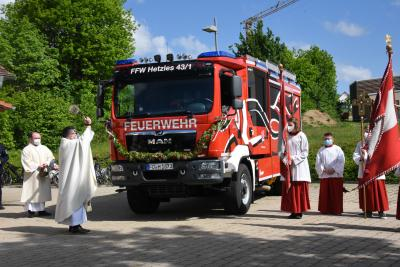 Neues Fahrzeug für die Freiwillige Feuerwehr Hetzles - Segnung und Indienststellung am 30. Mai 2021
