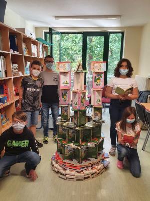 Foto zur Meldung: Bücherturmchallenge
