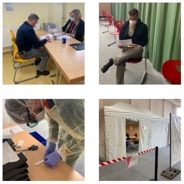 Neue Fotostrecke zum Thema Teststrecke Corona Schnelltestzentrum in Grünheide