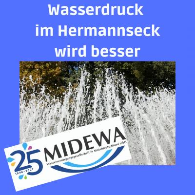 Wasserdruck im Hermannseck wird besser