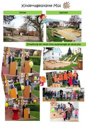 Feierliche Einweihung und kirchliche Segnung der Außenanlage der Kindertagesstätte Müs