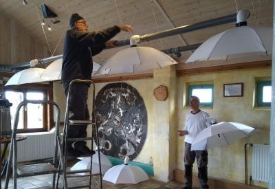 Luftabsauganlage für das Teehaus