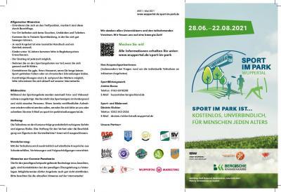 """Sport im Park"" 28.06.-22.08.21"