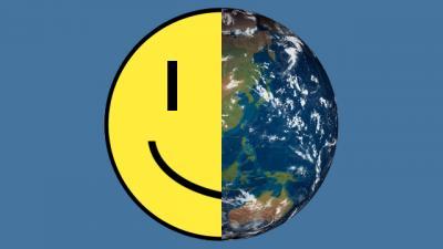 Weltkugel und Smiley