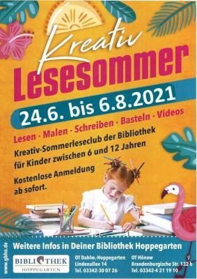 Flyer zum Lesesommer