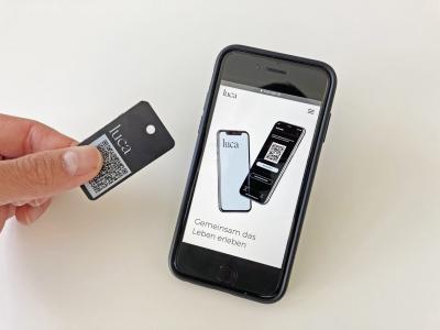 Vorschaubild der Meldung: Schlüsselanhänger luca-App