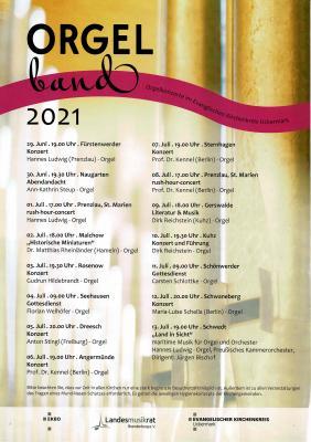 Orgelband Uckermark in Naugarten 30. Juni
