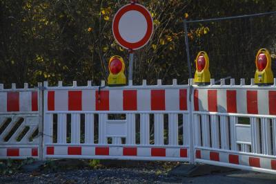Vollsperrung der Burgstraße in Herdwangen