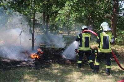 Foto zu Meldung: Waldbrand bei Emstal