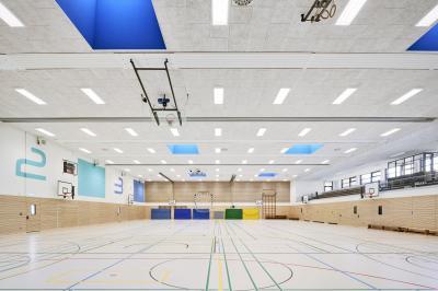 Foto zur Meldung: Sporthalle der Eilun-Feer-Skuul: Projekt nimmt am Tag der Architektur teil