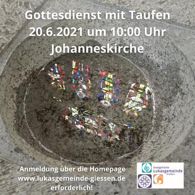 Foto zur Meldung: Gottesdienst am 20.6.2021 in der Johanneskirche