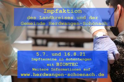 Gemeinde Herdwangen-Schönach bietet weitere Impftermine in Hohentengen an