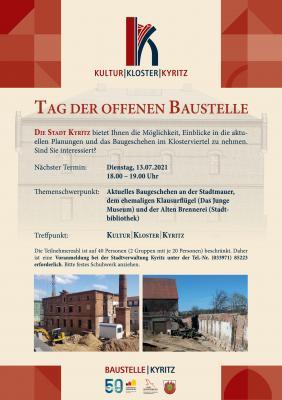 Tag der offenen Baustelle - Kultur|Kloster|Kyritz