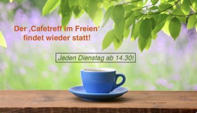 Foto zur Meldung: Hurra, der 'Cafetreff im Freien' findet wieder statt!