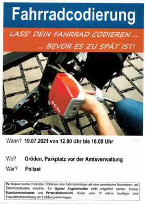 Lass Dein Fahrrad codieren .. bevor es zu spät ist