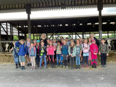 Foto zur Meldung: Ausflug zum Bauernhof (Klasse 3)